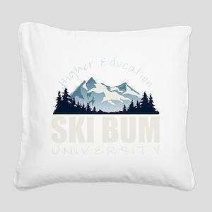 ski bum drk Square Canvas Pillow