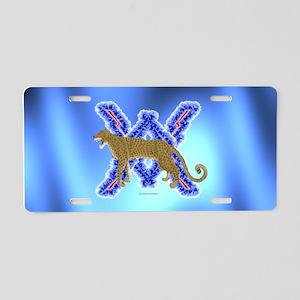 Wild Anger Leopard Aluminum License Plate