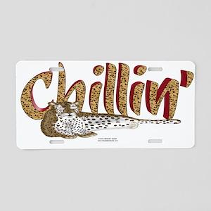 Chillin' Leopard Aluminum License Plate
