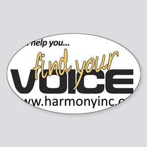 Well Help You Find Your Voice Sticker (Oval)