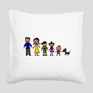 ass family Square Canvas Pillow
