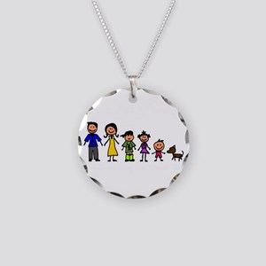 ass family Necklace Circle Charm