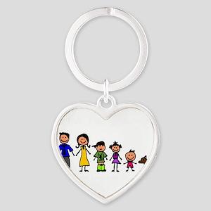 ass family Heart Keychain