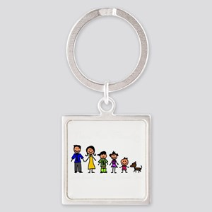 ass family Square Keychain