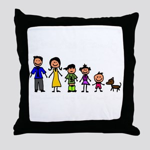 ass family Throw Pillow