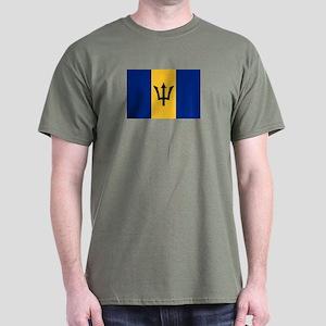 The Barbados National flag Dark T-Shirt