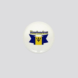 The Barbados flag ribbon Mini Button
