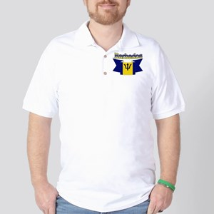 The Barbados flag ribbon Golf Shirt