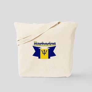 The Barbados flag ribbon Tote Bag