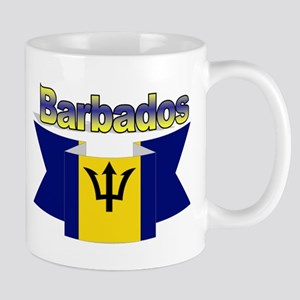The Barbados flag ribbon Mug