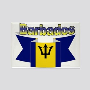 The Barbados flag ribbon Rectangle Magnet