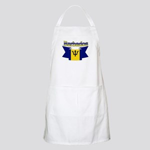 The Barbados flag ribbon BBQ Apron