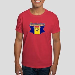 The Barbados flag ribbon Dark T-Shirt