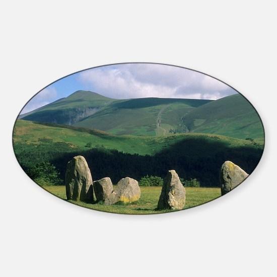 England, Castlerigg Stone Circle, L Sticker (Oval)