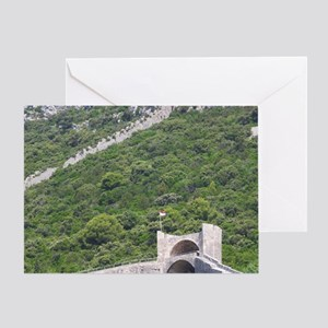 The Ston fortress built in the 14th  Greeting Card