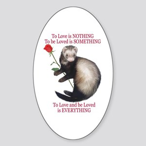 To Love is NOTHING Oval Sticker