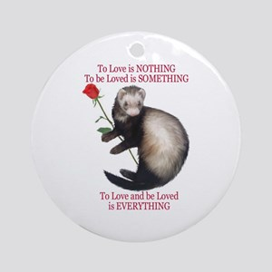To Love is NOTHING Ornament (Round)