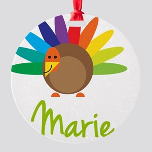 Marie-the-turkey Round Ornament