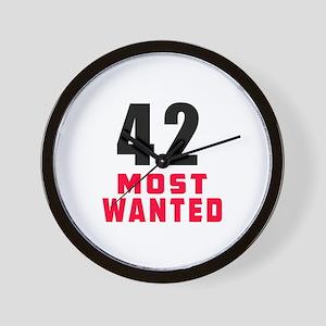 42 most wanted Wall Clock