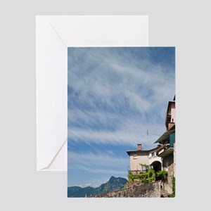 Switzerland, Ticino Canton, Gandria. Greeting Card