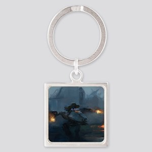 ares_drop Square Keychain