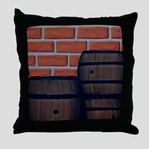 3barrels-lg Throw Pillow