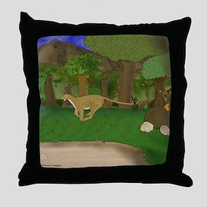 Cougar Running Throw Pillow