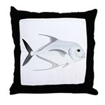 African Pompano Throw Pillow