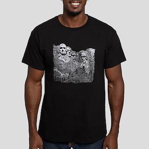 B@W Mount Rushmore Men's Fitted T-Shirt (dark)