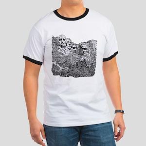 B@W Mount Rushmore Ringer T