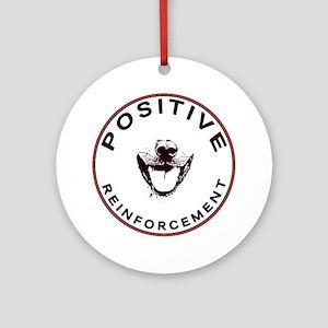 positivereinforcement_pocket Round Ornament