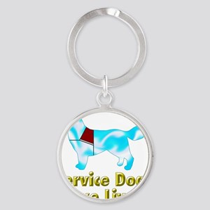Service Dogs Save Lives Round Keychain