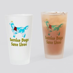 Service Dogs Save Lives Drinking Glass