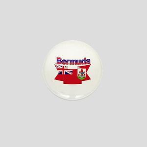 Bermuda flag ribbon Mini Button