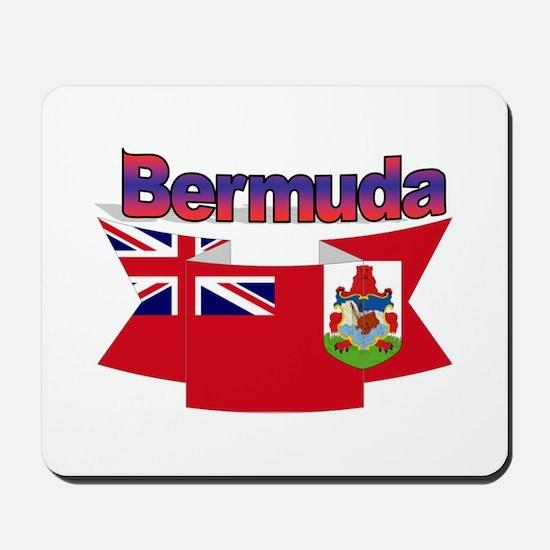 Bermuda flag ribbon Mousepad