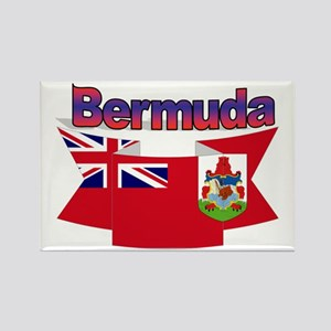 Bermuda flag ribbon Rectangle Magnet