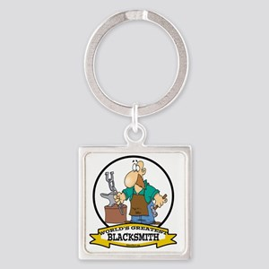 WORLDS GREATEST BLACKSMITH CARTOON Square Keychain