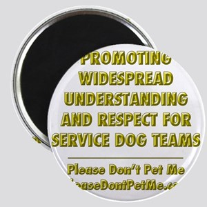 Please Dont Pet Me Mission Statement Magnet