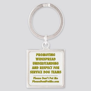 Please Dont Pet Me Mission Stateme Square Keychain