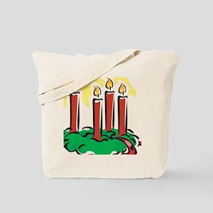 xmas candles Tote Bag