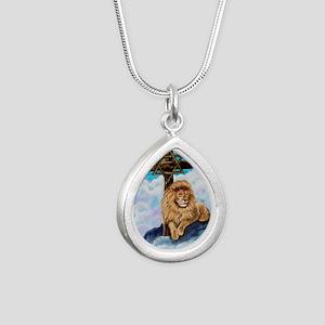 Messianic Art Silver Teardrop Necklace