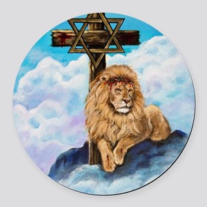 Messianic Art Round Car Magnet