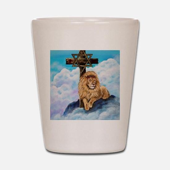 Messianic Art Shot Glass