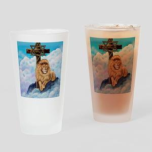 Messianic Art Drinking Glass