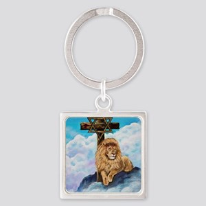 Messianic Art Square Keychain