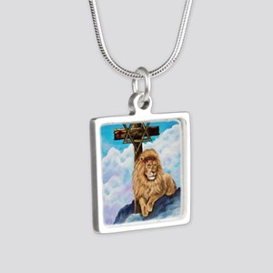 Messianic Art Silver Square Necklace