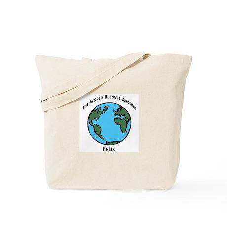 Revolves around Felix Tote Bag