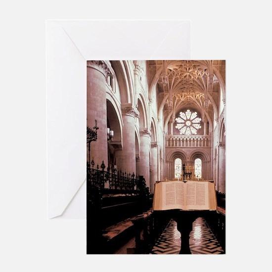 England. Oxford University chapel, H Greeting Card