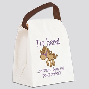PonyArrive_Purple Canvas Lunch Bag