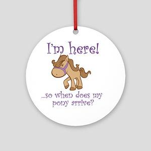 PonyArrive_Purple Round Ornament